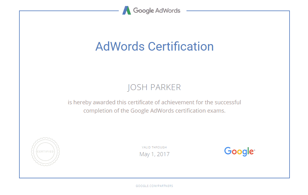 Adwords Certificiation