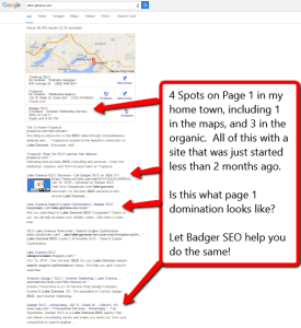page 1 domination for a local search