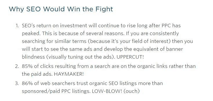 seo vs ppc for dentist