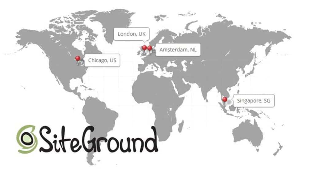 siteground data centers around the world